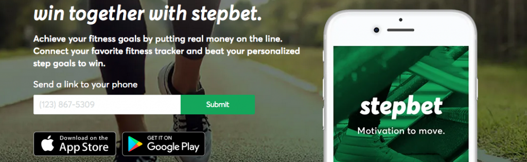 StepBet is an app that pays you to walk and be active