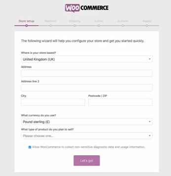 how to set up woocommerce online store